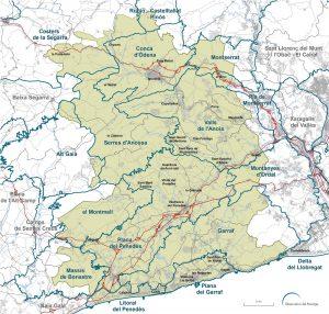 Mapa en detall de les unitats de paisatge