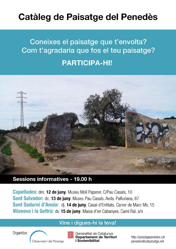 Poster participació Catàleg de Paisatge del Penedès